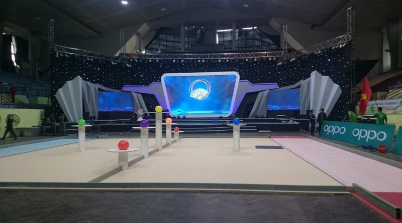 Máy chiếu, màn led Tân Việt tại cuộc thi Robocon 2017 Hà Nội